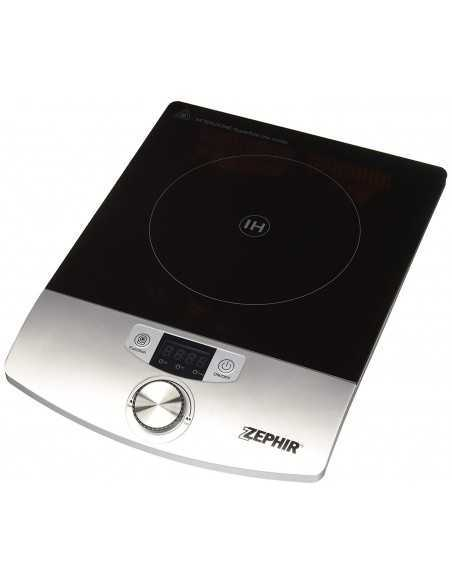 Piastra Fornello elettrico ad induzione con timer 180 minuti e display LED Zephir ZHC14, 10 Livelli di temperatura, 2000W