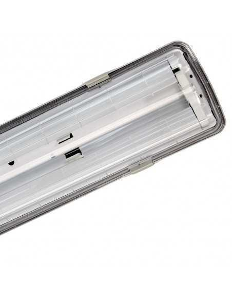 Plafoniera stagna per tubi LED Beghelli 72001ST, IP65 tenuta stagna, tubi LED da 9W, 220V, A++|Coppolav.it: Plafoniere