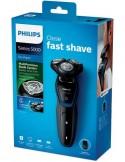 Rasoio elettrico Wet&Dry ricaricabile Philips S5100, 40 min autonomia, rasatura a secco, testina a 5 direzioni