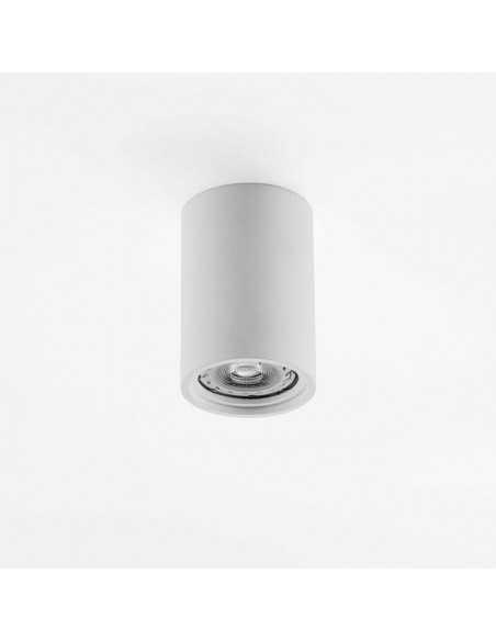 Plafoniera in gesso cilindrica con staffa per cartongesso o laterizio, attacco GU10 Isyluce 826: Coppolav.it: Faretti in gesso