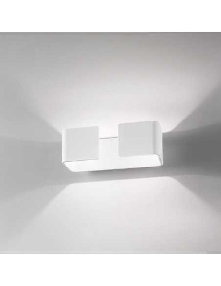 Applique bianco sabbiato biemissione, LED Integrati da 10W, 900 Lumen Luce calda 3000K, Isyluce 924P: Coppolav.it: Applique LED