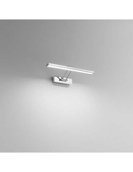 Applique cromato con doppio snodo, LED Integrati da 8W, 460 Lumen, Luce naturale 4000K, Isyluce 938N: Coppolav.it: Applique LED