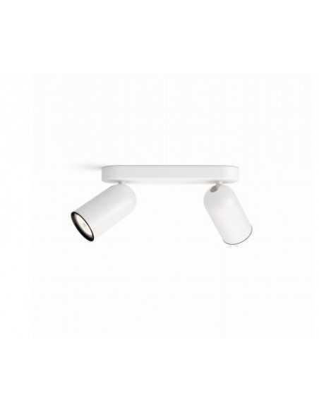 Faretto spot orientabile da soffitto e parete Philips Pongee, GU10, Bianco