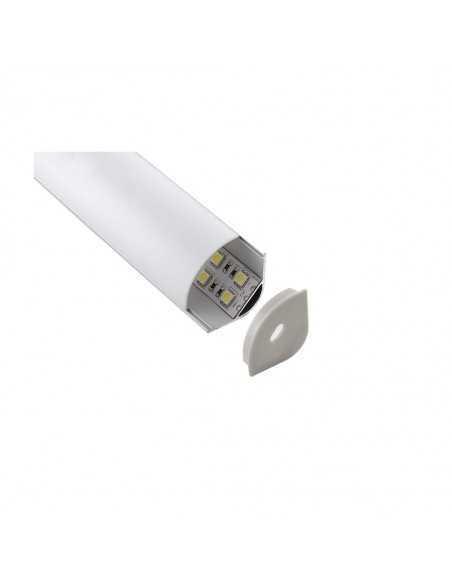 Profilo d'alluminio da 2 metri con schermo per strip LED Lampo PRKITSUP