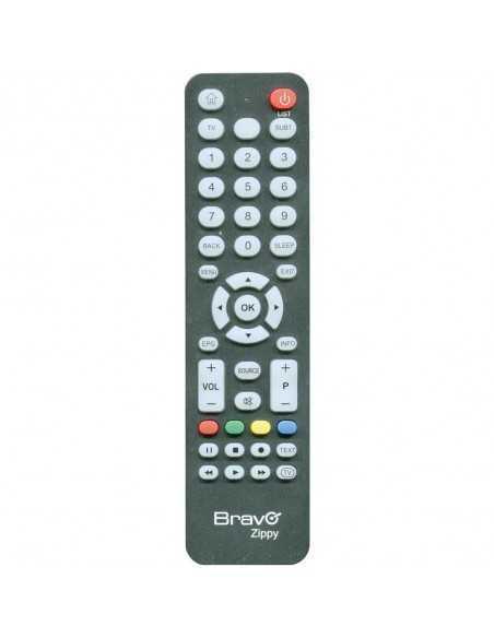 Telecomando universale per TV e digitale terrestre Bravo Zippy 90402304, Nero, Facile da programmare