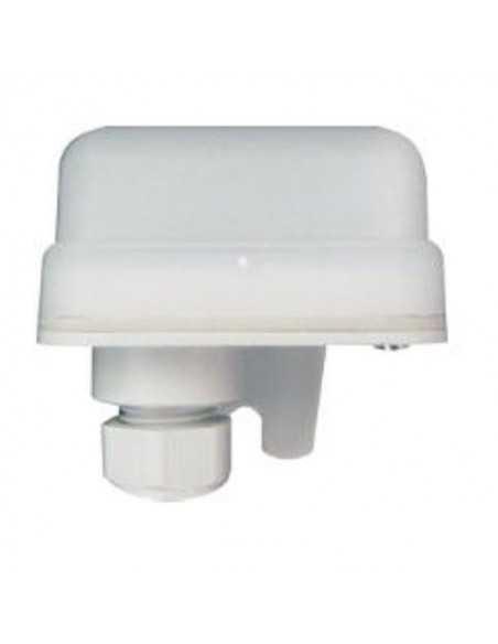 Interruttore crepuscolare mini da esterno MADE IN ITALY IP55, 10A, 230V, Kros Mini-One,1000W di carico max, Bianco: Coppolav.it