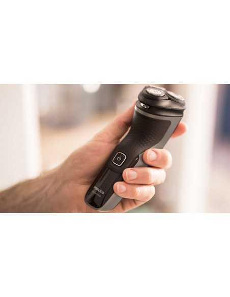 Rasoio e rifinitore ricaricabile per barba 4D Philips Shaver 1200 S1232, Lame auto affilanti, resistente all'acqua