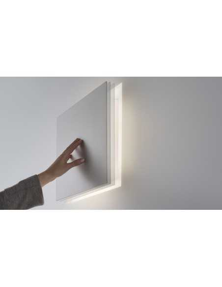 Applique da incasso in gesso Panzeri AlDecimo a scomparsa, 21W LED, Luce calda 3000°K,2920 Lumen, IP20