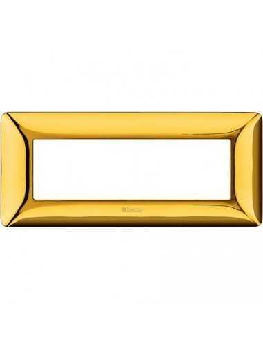 Placca Oro lucido 6 posti Bticino Matix AM4806GOR, 6 Moduli, Tecnopolimero, Serie Civili, MADE IN ITALY: Coppolav.it
