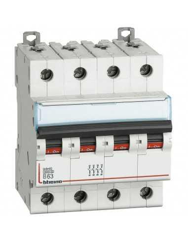 Interruttore magnetotermico 63A Quadripolare 4P Bticino FN84B63, 4 Moduli, 400 V AC, Curva B: Coppolav.it