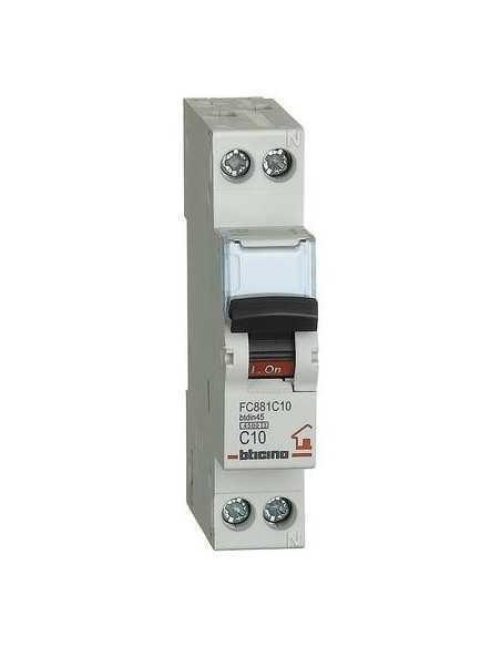 Interruttore magnetotermico da quadro Bticino BTDIN, 1 modulo, 1P+N, 10A, MADE IN ITALY:Coppolav.it: Interruttore magnetotermici