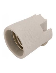 Portalampada E27 in porcellana bianca con fissaggio tramite raccordo filettato FAEG FG24100: Coppolav.it: Portalampada E27