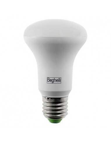 Lampada LED Reflector R63 Spot E27 10W Luce calda Beghelli 56144, 3000°K, 690 Lumen, Resa 100W, Apertura luce 110°, A+
