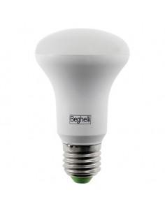 Lampada LED Reflector R80 Spot E27 12W Luce naturale Beghelli 56147, 4000°K, 910 Lumen, Resa 140W, Apertura luce 110°, A+