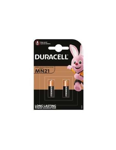 Blister di 2 batterie Duracell MN21 a lunga durata 12V