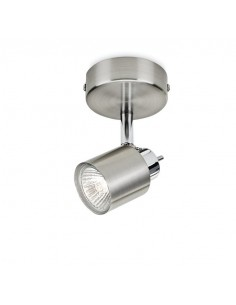 Faretto spot orientabile singolo Philips 5031017E7, Cromo satinato, GU10: Coppolav.it: Faretto da parete