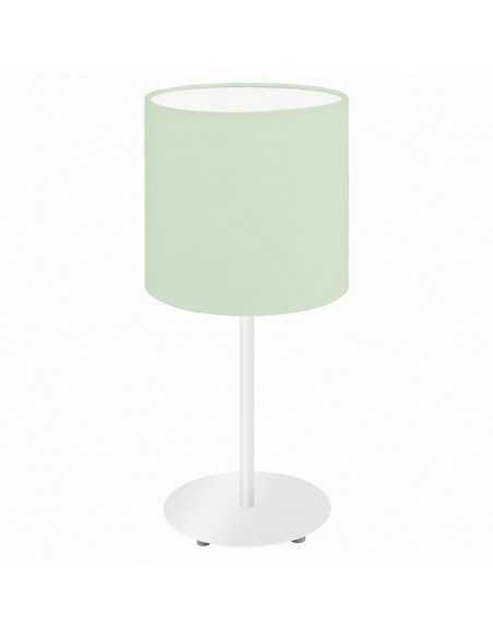 Lume da tavolo in tessuto verde Eglo Pasteri 97382, 1 E27, Interuttore sul cavo, IP20: Coppolav.it: Lampada da tavolo