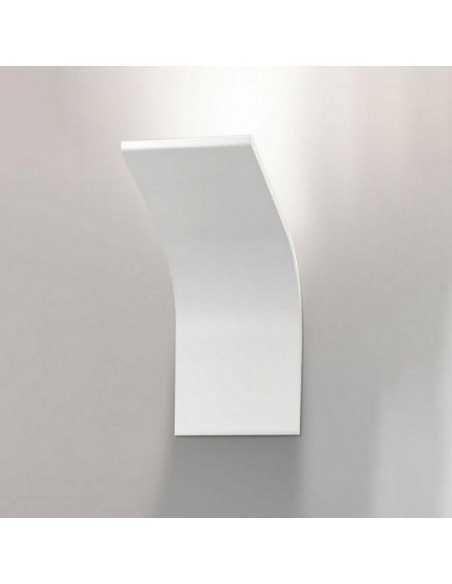 Applique da parete moderno bianco Panzeri Jackie A07701.000.0409, 10W LED Integrato, Luce calda, 600 Lumen