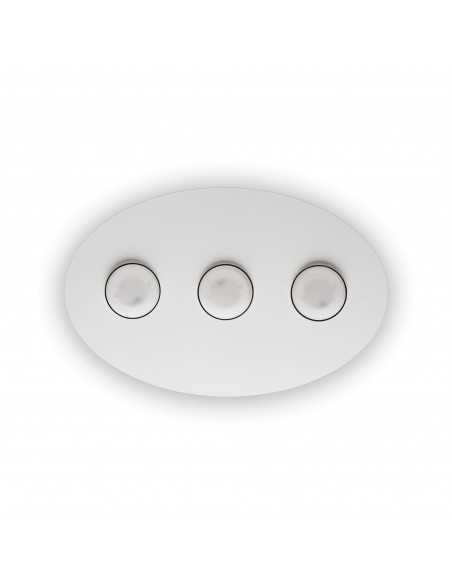 Plafoniera a 3 luci con montatura in metallo bianco opaco Ideal Lux Logos PL3, 3 Luci GX53: Coppolav.it: Plafoniere