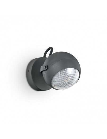 Applique da parete per esterno orientabile Antracite IP44, 1 Luce GU10 Ideal Lux Zenith AP1: Coppolav.it: Applique