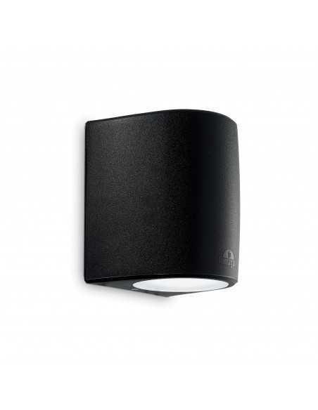 Applique da parete per esterno nero biemissione IP55, 1 Luce E27 Ideal Lux Fumagalli Keope AP1 Big, Struttura in resina