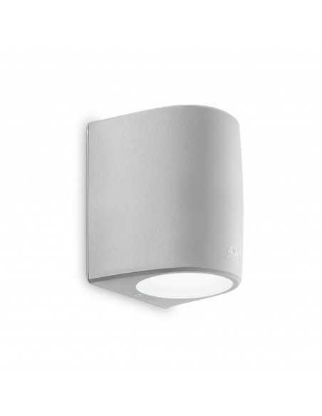 Applique da parete per esterno grigia biemissione IP55, 1 Luce E27 Ideal Lux Fumagalli Keope AP1 Big, Struttura in resina