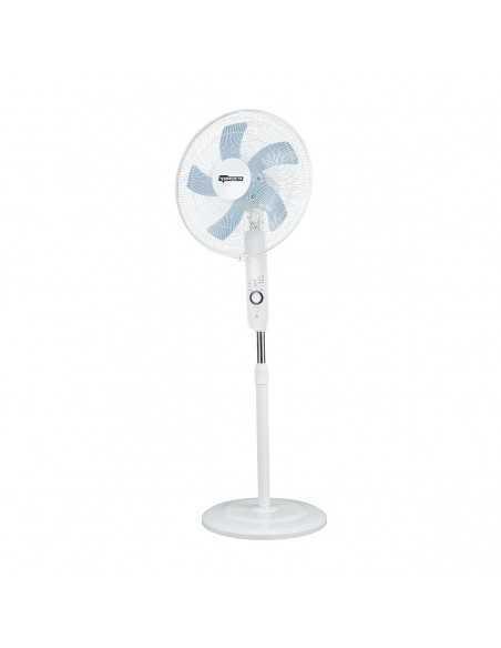 Ventilatore a piantana con telecomando e timer Termozeta TZAZ02 , 5 pale, Altezza regolabile 125 cm, Timer 7.5 ore, 50W