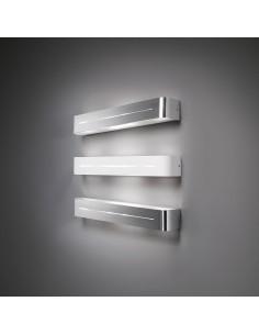 Applique da parete moderno a 4 luci in metallo spazzolato Ideal Lux Posta AP4, 4 Luci E14