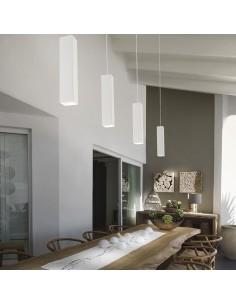 Sospensione moderna bianca Ideal Lux Sky SP1, 1 Luce GU10, Struttura e rosone in metallo: Coppolav.it: Sospensioni