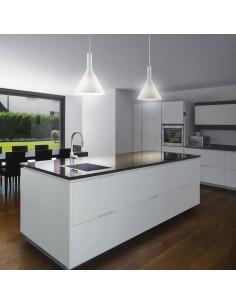 Sospensione moderna semplice con vetro soffiato bianco incamiciato e acidato Ideal Lux Cocktail SP1 Small, 1 E14: Coppolav.it