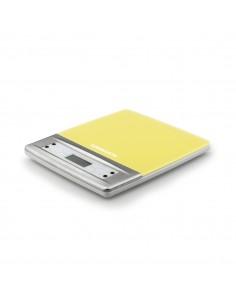Bilancia da cucina digitale con ampio display LCD e base in vetro temperato Termozeta 85856, Capacità massima 5 Kg, Tara