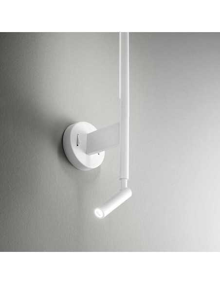 Applique moderno orientabile fino a 300° bianco Perenz Ramon 6654BCL, 2 Sistemi LED Integrati da 6W e 3W, Luce calda Coppolav.it