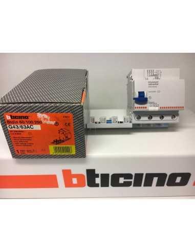 Bticino G43/63AC Salvavita Interruttore Differenziale 63A Quadripolare Modulare, 230/400V, 4 Moduli, 4P, IMQ: Coppolav.it