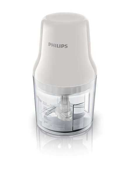 Tritatutto Philips HR1393|2 lame in acciaio Inox|Motore da 450W|Capacità: 0,7 litri|Coppolav.it: Linea cucina