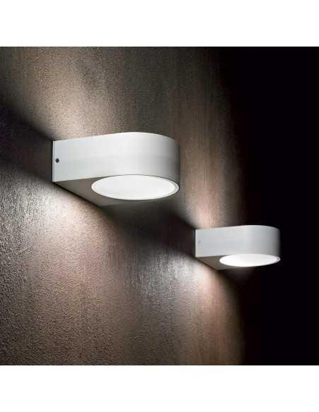 Applique da parete per esterno biemissione Bianco IP54, 1 Luce E27 Ideal Lux Iko AP1, Alluminio pressofuso: Coppolav.it