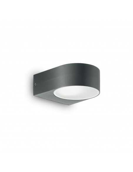 Applique da parete per esterno biemissione Antracite IP54, 1 Luce E27 Ideal Lux Iko AP1, Alluminio pressofuso: Coppolav.it