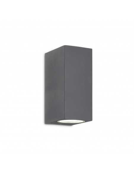 Applique da parete a 2 luci per esterno Antracite IP44, G9 Ideal Lux Up AP2, Struttura in alluminio: Coppolav.it