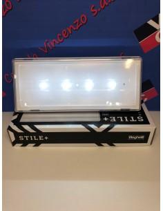 Lampada emergenza LED sottile 11W Beghelli 19500, Installabile a parete o incasso, 2 ore di autonomia, IP42, Batteria a litio