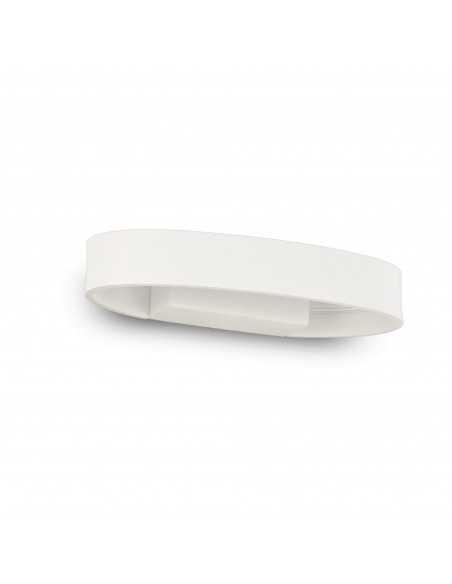 Applique da parete ovale bianco con Sistema LED Integrato da 5W Ideal Lux Zed AP Oval, Luce calda 3000K, 390 Lumen, IP20