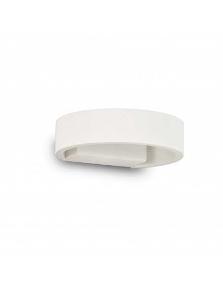 Applique da parete bianco con Sistema LED Integrato da 5W Ideal Lux Zed AP Round, Luce calda 3000K, 390 Lumen, IP20