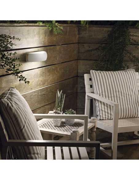 Applique a fascia bianco per esterno IP54 in alluminio pressofuso Ideal Lux Giove, 1 E27: Coppolav.it: Applique per esterno