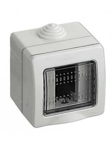 Custodia Bticino 25501 Idrobox IP55 per frutti Bticino Matix, 1 Modulo, Composta da base e portello: Coppolav.it