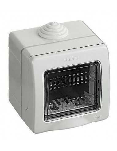 Custodia Bticino 25502 Idrobox IP55 per frutti Bticino Matix, 2 Moduli, Composta da base e portello: Coppolav.it
