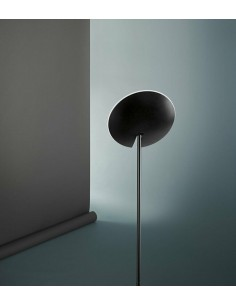 Piantana orientabile fino a 180° Nera Opaco moderna Perenz Ophelia 6586 NLC, Sistema LED Integrato 24W, Luce calda, 1900 Lumen
