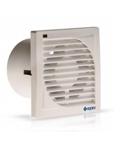 Aspiratore elicoidale sottile per foro diametro 150 mm Fantini Cosmi AP0505, Installazione a parete con condotti brevi