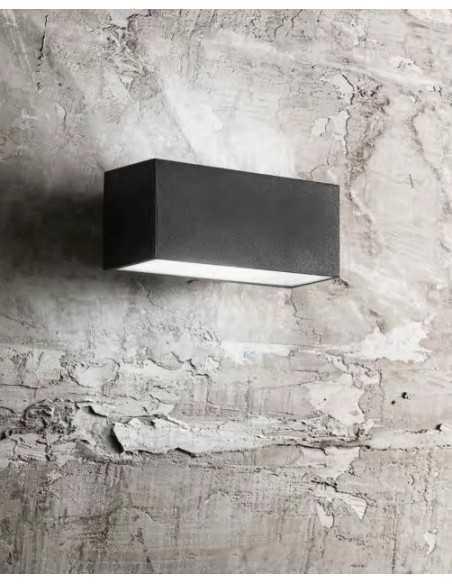 Applique da parete moderno per esterno biemissione Antracite Perenz 6556A, 1 E27, Struttura in alluminio pressofuso, IP44