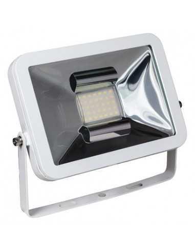 Faro LED 50W Bianco per esterni IP65 Elplast Beghelli 86108 SEF Slim LED, Luce Naturale 4000K, 4200 Lumen, Alluminio Pressofuso