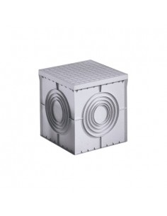 Pozzetto elettrico Arnocanali grigio con coperchio 30x30 PZC3030, Fondo chiuso, Polipropilene, 235 Kg di portata massima