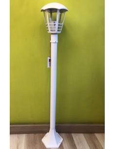 Lampione Bianco per esterno Alto 1000 mm GreenLight 08688,1 E27, Diffusore trasparente, Alluminio Pressofuso, IP44