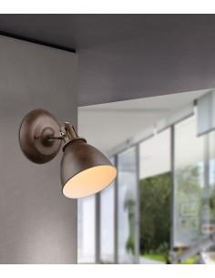 Faretto orientabile color Ruggine Globo Lighting Giorgio 54647-1,1 E14, Design Classico: Coppolav.it
